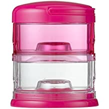 Innobaby Packin' Smart Stackable and Portable Storage System for Formula, Baby Snacks and more. 2 Stackable Cups in Pink. BPA Free.