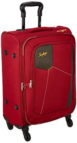 Skybags Rubik Polyester 58 Cms Softsided Check-in Luggage (RED)