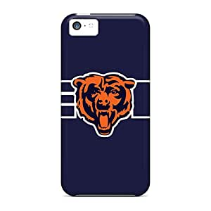 Protector Cell-phone Hard Covers For Iphone 5c With Custom Attractive Chicago Bears Pattern LauraAdamicska