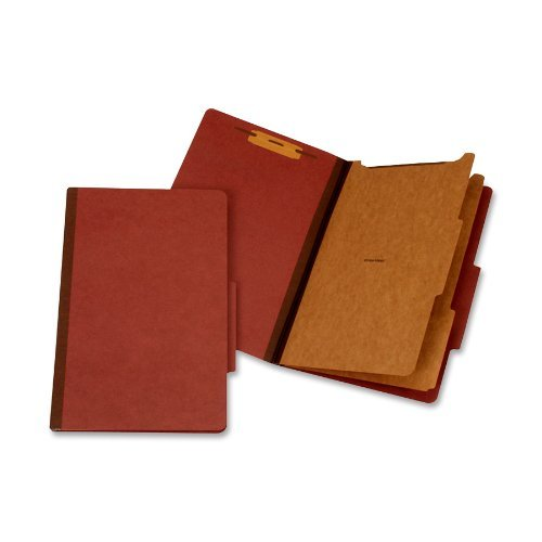 Moisture Resistant Classification Folders (Globe-Weis Moisture Resistant Classification Folder, Legal Size, 2 Dividers, Red, (PU64M RED) by Globe Weis)