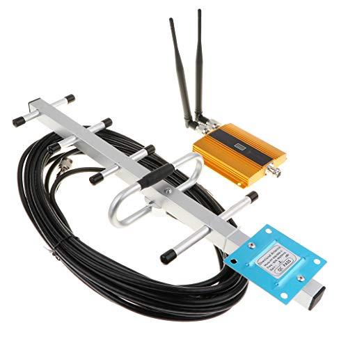 MagiDeal Amplificador De Refuerzo De Señal De Teléfono Celular GSM 900Mhz Con Kit De Antena Yagi