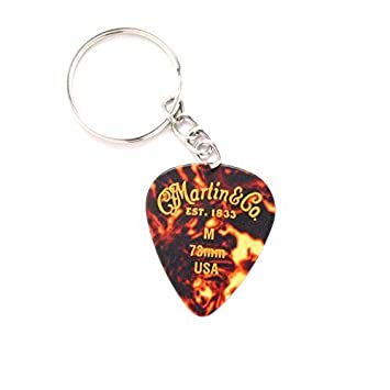 Martin rojo púa de guitarra Llavero Anillo coche música Rock ...