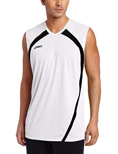 ASICS Men's Performance Tyson Sleeveless Top, White/Black, ()