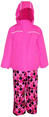 Pulse Little Girls Snow Suit Ski Jacket and Snow Pants (Medium 6/6X, Pink/Ladybug) ()