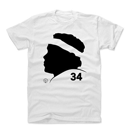 (500 LEVEL Walter Payton Cotton Shirt XX-Large White - Vintage Chicago Football Men's Apparel - Walter Payton Silhouette )