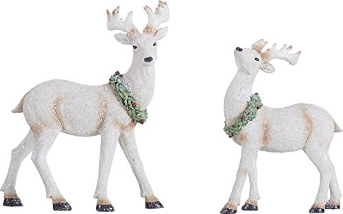 White Deer Christmas Decoration Amazon Com