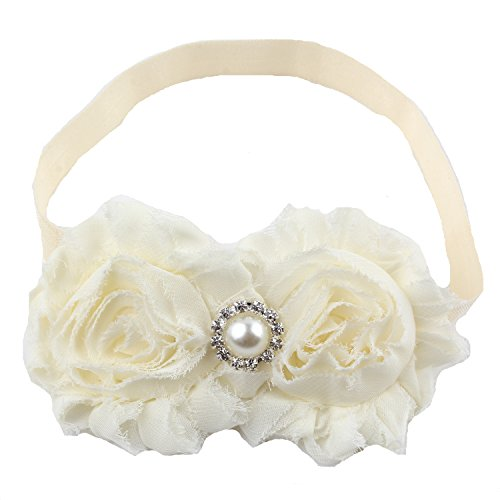 Miugle Baby Girls Headbands with Bows - Ivory Bows