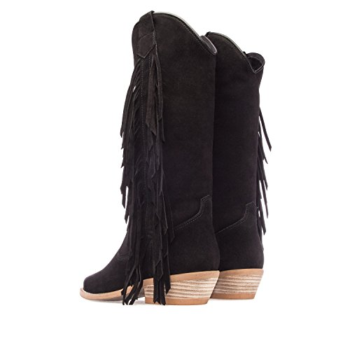 5 Range Suede Black Ladies Suede Andres 41 3 Made 7 161 Machado 5 36 High Spain EU Boots to Black to Size UK in in wqz7q