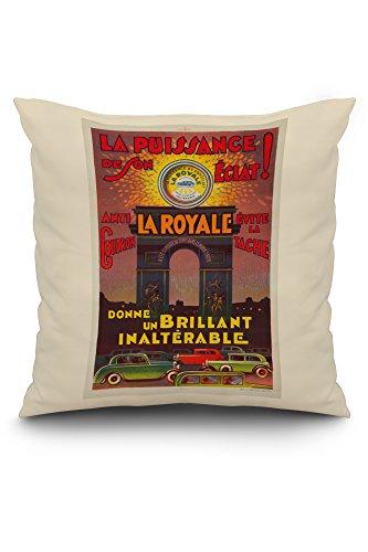 (La Royale Vintage Poster France c. 1930 (20x20 Spun Polyester Pillow, White)