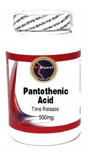 Pantothenic Acid Time Release 500mg 100 Capsules # BioPower Nutrition