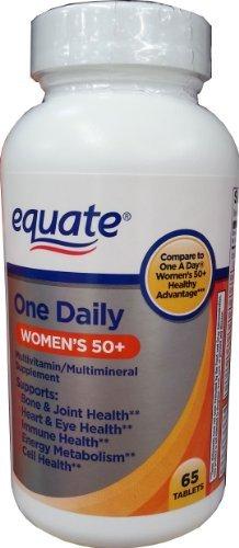 Один ежедневный Женская 50+ Мультивитаминный / Мультиминерал Дополнение 65ct По приравнять, По сравнению с One женский день 50+ здорового Advantage