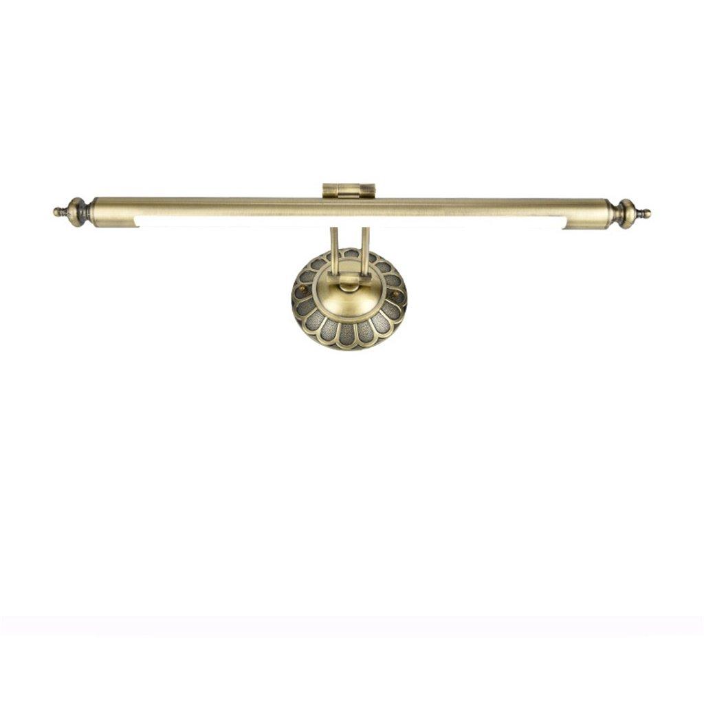 Amerikanische Retro LED-Spiegel-vorderes helles Europäisches Art Badezimmer-einfaches Spiegel-Kabinett-Lichter, justierbares 240 ° ( Größe   66CM11W )