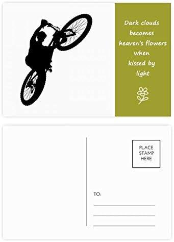 DIYthinker Deportes paseo de bicicletas de salto del jugador Poesía postal Conjunto de tarjeta de correo Gracias lateral 20Pcs 5,7 pulgadas x 3,8 pulgadas Multicolor: Amazon.es: Oficina y papelería