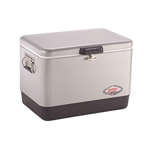 Coleman Steel-Belted Portable Cooler, 54 Quart, Silver (Best Large Cooler For The Money)