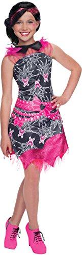 Rubie's Deluxe Kids Girls Draculaura Dress Costume Large 12-14 Black/Pink -
