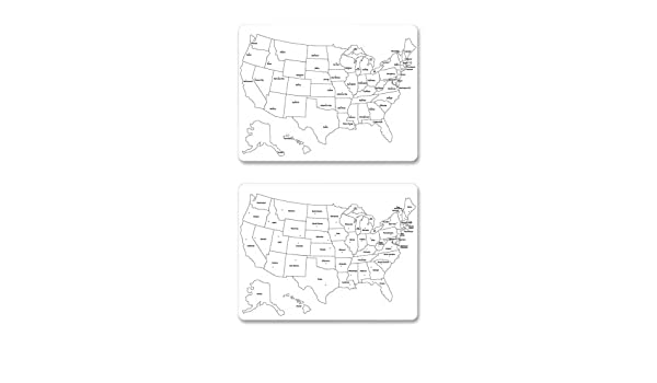 Amazon.com : ChenilleKraft 2-Sided Large USA Map Whiteboard ...