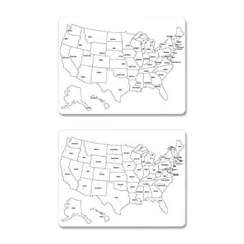 Amazon.com : ChenilleKraft 2-Sided Large USA Map Whiteboard ...
