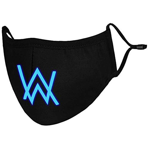 Alan Walker Cosplay Accessories Black Glowing Face Mask (Face Mask -