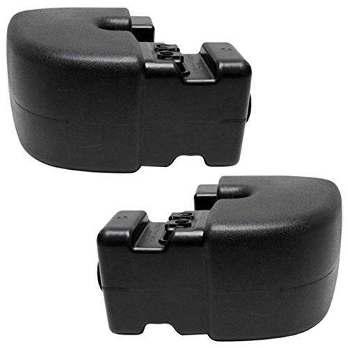 Side Rear Bumper End - 97-06 Wrangler (TJ) Rear Bumper Face Bar Extension End Left Right Side SET PAIR