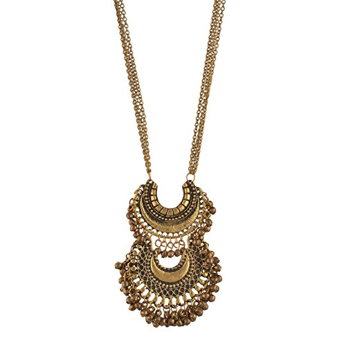 Zephyrr Fashion Turkish Style Beaded Pendant Long Necklace for Women Boho Gypsy Statement Jewelry JAN-690