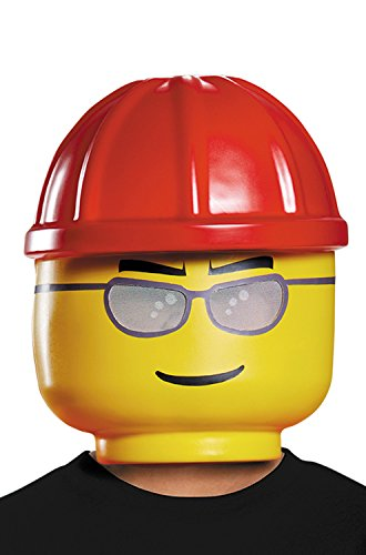 Disguise Lego Construction Worker Mask, One Size