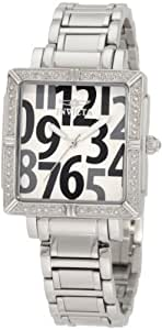 Invicta Women's 10669 White/Grey Wildflower Collection Diamond Accented Square Watch