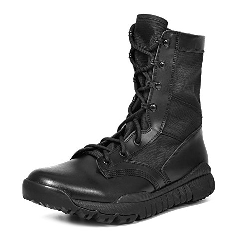 IODSON US Mens' Ultra-Light Combat Boots Military Tactical Work Boots 8 D(M) US