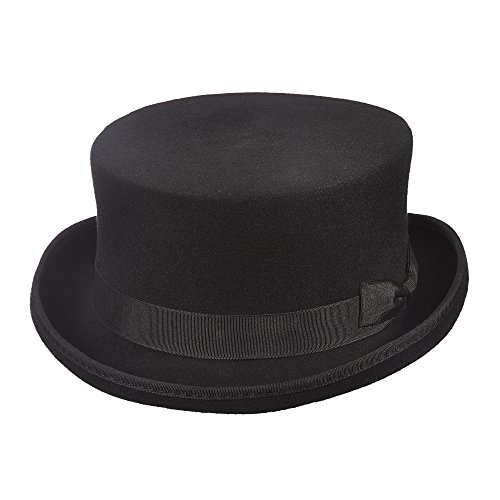 Scala Wool Top Hat (Scala Classico Men's Steam Punk Top Hat, Black, L)