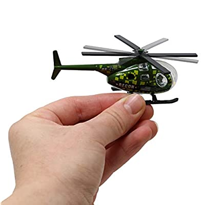 SN Incorp. Die cast Helicopters for Boys, Girls, Kids - Assorted Toy Helicopters - Army, Police, Medic, and Fire Helicopters for Party Favors, Gifts, Prizes - Diecast Helicopters Toys Set of 12: Toys & Games