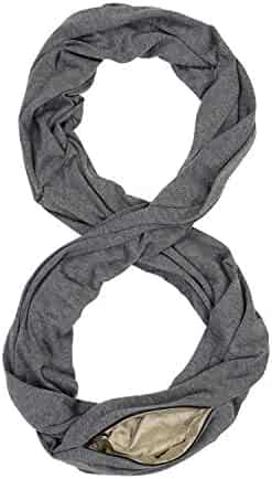 26231c9709 Infinity Travel Scarf with RFID Blocking Hidden Zipper Pocket | Lightweight  Neck Scarf for Men and