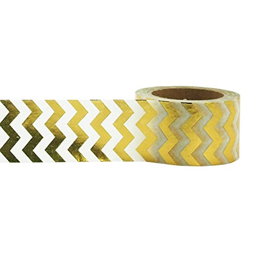 Little B 100415 Decorative Foil Paper Tape, Gold - 25 Mm Tape