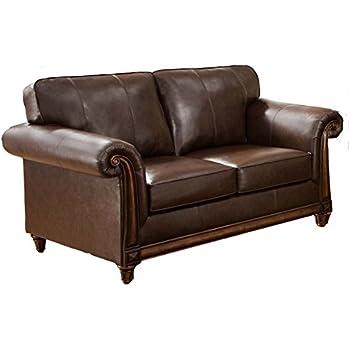 Amazon Com Homelegance 9734db 2 Upholstered Loveseat Dark Brown