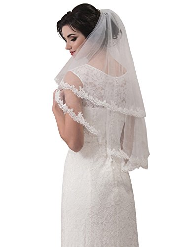 "Bridal Veil Eliza from NYC Bride collection (chapel 72"", ivory) by NYC Bride"