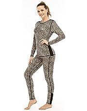 MEETYOO Women's Thermal Underwear Set, Winter Compression Long Johns Base Layer