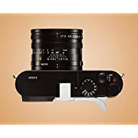 JFOTO LQs-G Thumbs Up Grip Designed for Leica Q Typ 116 better balance & grip convenience, Camera Silver Metal Hand Hot Shoe Grip, Newest Version securely the camera