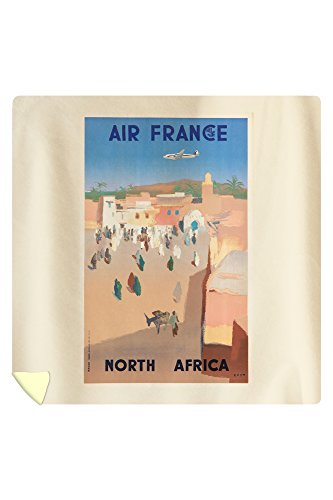 Air France - North Africa Vintage Poster (artist: Even) France c. 1950 (88x88 Queen Microfiber Duvet Cover) by Lantern Press