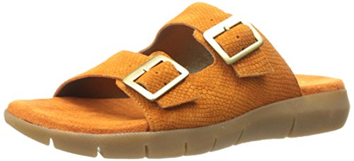 Aerosoles Women WIP Code Fisherman Sandal Orange Snake