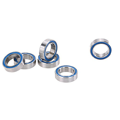 TOOGOO(R) 6 Pieces RC Racing AXA1230 Ball Bearings(10x15x4mm) Spare Parts Set for 1:10th AXIAL SCX10 Rock Crawler Off-road Car (Buggy Ball Bearing Set)