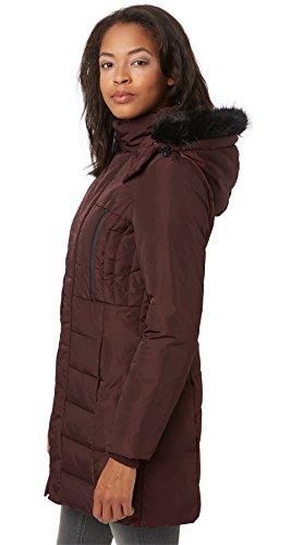 Tom Tailor Feminine Puffer Coat, Abrigo para Mujer ciruela