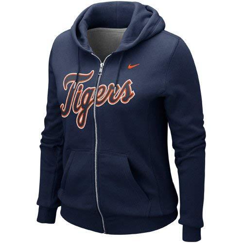 Nike Detroit Tigers Ladies Classic Full Zip Hoodie - Navy Blue ()