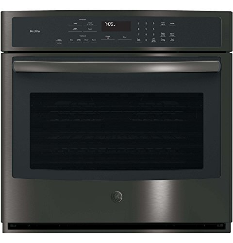GE Profile PT7050BLTS 30 Inch 5 cu. ft. Total Capacity Electric Single Wall Oven with 2 Oven Racks in Black Stainless Steel
