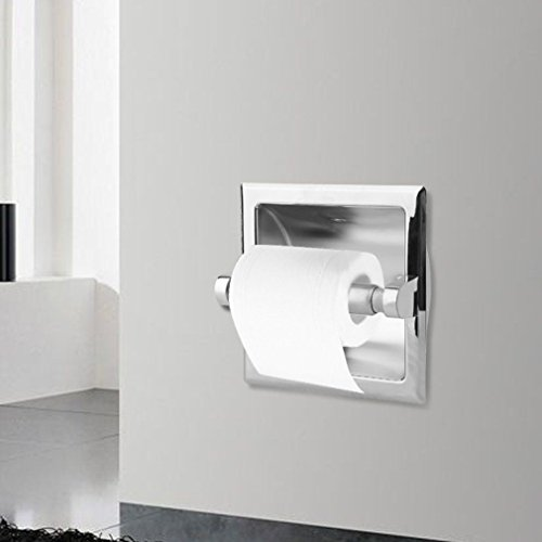 Moon Daughter 2Pcs Recessed Toilet Paper Holder - Polished Chrome Modern Luxury Bathroom Tissue by Moon_Daughter (Image #1)