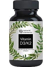 Vitamin D3 + K2 MK7-180 Tabletten - Premium: 99,7+% All Trans (K2VITAL® von Kappa) + 5.000 IE Vitamin D3 - Hochdosiert und hergestellt in Deutschland