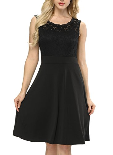 - Women's Sleeveless Little Black A-line Dress XXL