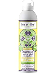 Human+Kind Shower Mousse - Wash, Lather, and Cleanse Skin with Puffs of Fluffy Foam - Nourishes Dry Skin with Coconut Oil - Natural, Vegan Skin Care - Tropical Splash - 6.76 fl oz