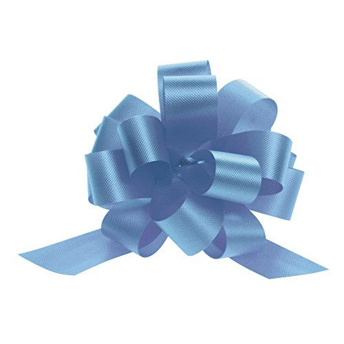 4'' Pull Bows Light Blue 50 per case by Retail Resource