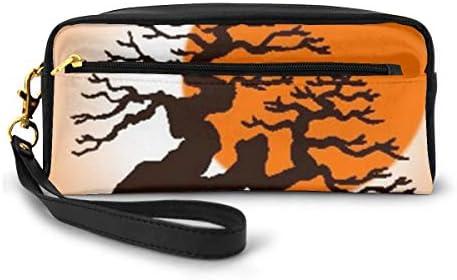 長財布 ポーチ 松の木 レザーバッグ 化粧バッグ おしゃれ かわいい 小型バッグ ペンケース クラッチポーチ メイクポーチ