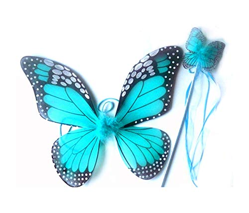 Mozlly Turquoise Monarch Butterfly Wings & Wand. 18