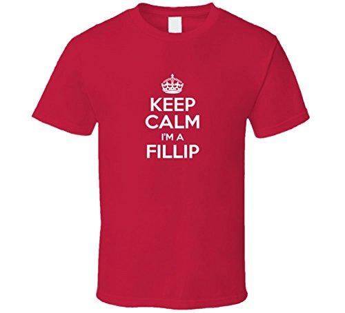 Fillip Keep Calm Parody Family Tee T Shirt M Red