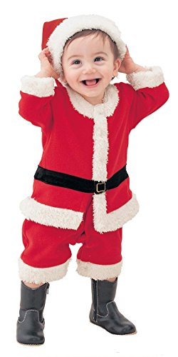 [Multifit Boys Christmas Cute Santa Costume Accessory Toddler Boys Thick Santa Claus Costume Suit with] (Cute Santa Outfits)
